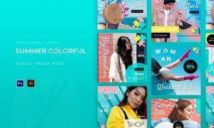 Summer Colorful Instagram Post VBHT6JQ