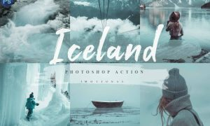 10 Iceland Photoshop Actions, ACR LUT 4593069