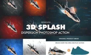 3D Splash Dispersion Photoshop Action 8RYAR58