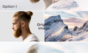 Double Exposure Photo Effect Mockup 364810754