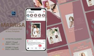 MARRISA - Instagram POST & STORY Template 46YQXDT
