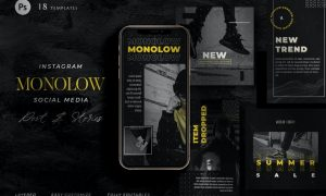Monochrome Instagram Black Marketing - Minimalist PRKCSGT