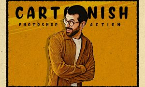 Cartoonish - Modern Cartoon Photoshop Action R9U5YYR