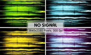 No Signal Grunge Backgrounds G9MJZDN