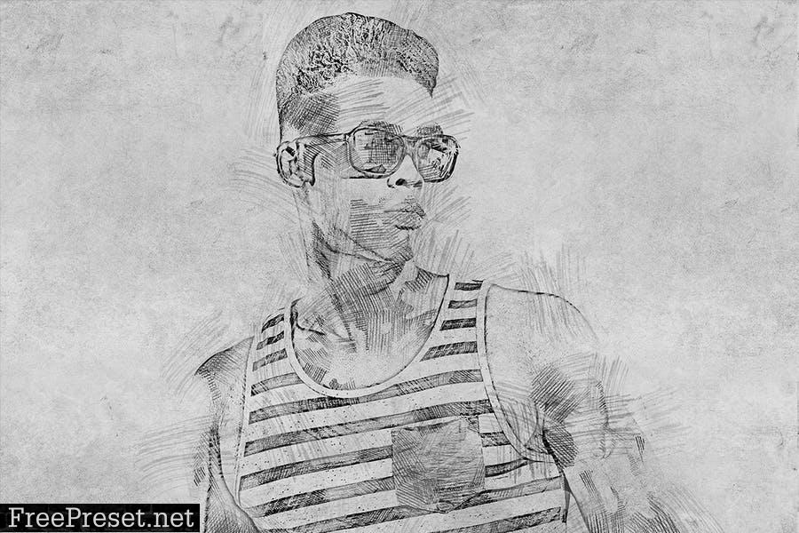 Sketch Photoshop Action KQXX4B4
