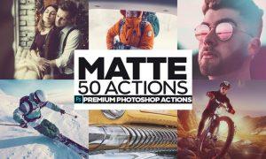 50 Matte Photoshop Actions U3PN9ZN