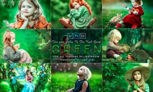 Green Tones ( presets and Actions ) 472UPBR