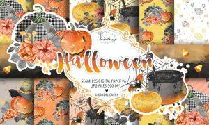 Happy Halloween digital paper pack KY2S3GN