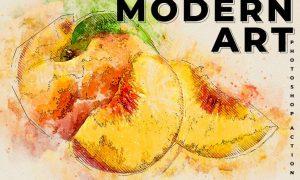 Modern Art Photoshop Action 5QMS9SW
