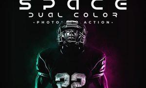 Space Dual Color Photoshop Action DJ9QRKV