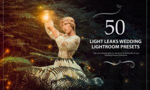 50 Light Leaks Wedding Lightroom Presets