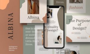Albina - Post & Story Instagram Template Vol.2 UAPUX5M
