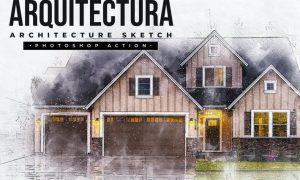 Arquitectura - Architecture Sketch Photoshop Action 58KKUGY