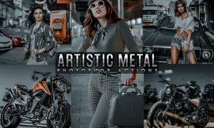 Artistic Collection - Metal Photoshop actions 6FCCET5