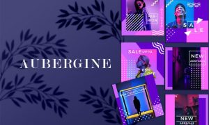 Aubergine - Instagram Fashion Feed Ads Template LVA3J4E
