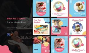 Best Ice Cream | Instagram Post AT4XXW2