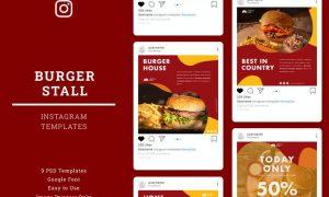 Burger Instagram Post Template XY4U7V9