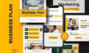 Business Plan - Post & Story Instagram Vol. 2