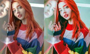 Cinematic Neon Portrait Photoshop Actions ECNNK6Q