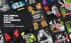 Colorful Palms Instagram Pack SL8P2SJ