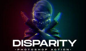 Disparity Photoshop Action Z7NC8YG