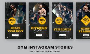 Fitness Center Instagram Stories Template YDSXKD9