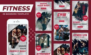 Gym Fitness Instagram Stories Template GJ5YJCA