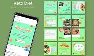 Keto Diet - Instagram Puzzle Template BEQVXH