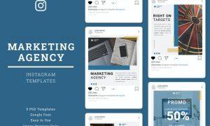 Marketing Agency Instagram Post Template GFKRSR7