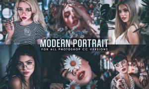 Modern Portrait Photoshop Actions XNSR588