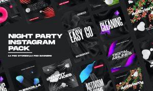 Night Party Instagram Pack Z34PEZ5