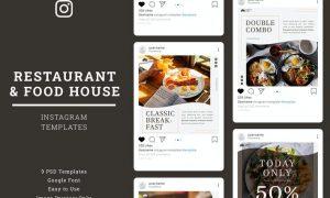 Restaurant Instagram Post Template NLQHVXL