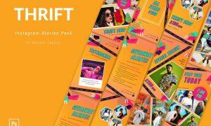 Thrift - Instagram Template Pack FD7E8L5