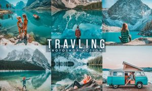 Travel Blogger Photoshop Actions N496MQ2