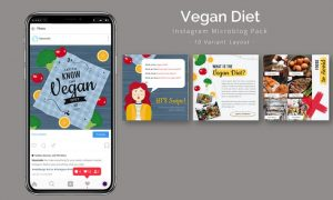 Vegan Diet - Instagram Microblog Pack 3Z3PM7