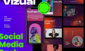 Vizual - Post & Story Instagram Template MX7ZM2R