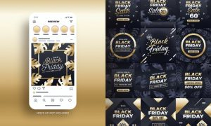 Black Friday Sale Instagram Post N7PPDEQ