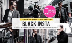 Black Insta Lightroom Presets