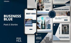 Business Blue - Post & Story Instagram Vol.1 2DNPCW8
