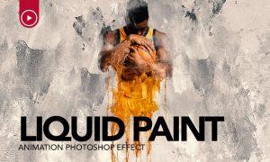 Gif Animated Liquid Paint Photoshop Action UBJV7Q4