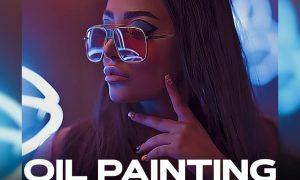 Oil Painting Photoshop Action 9WWAQTE