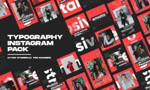 Typography Instagram Pack CFPBPX2