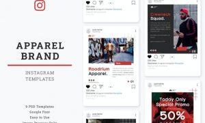Apparel Brand Instagram Post Template AADPUU8