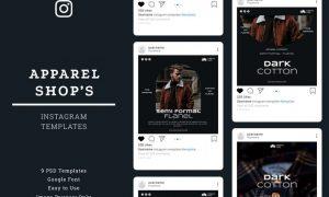 Apparel Shop Instagram Post Template UKD245L