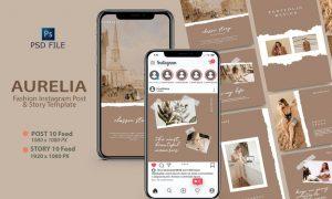 AURELIA - Fashion Instagram Template EMS5N4V