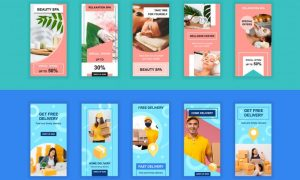 Beauty and Delivery Instagram Stories Template PVHHJVB