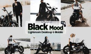 Black Mood Lightroom Presets Mobile & Desktop