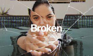 Broken Glass Photo Effect LME49RW