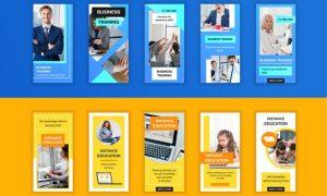 Business and Education Instagram Stories Template QK34DGX