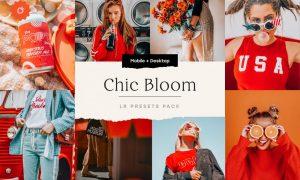 Chic Bloom – 4 Lightroom Presets Set 5347851